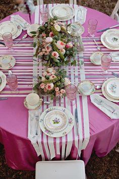 la decoración de mis mesas: Camino de mesa hecho con lazos