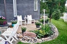Kuvahaun tulos haulle kiviä puutarhassa Outdoor Rooms, Outdoor Gardens, Outdoor Living, Backyard Plan, Backyard Landscaping, Fresco, Hillside Garden, Garden Screening, Balcony Garden