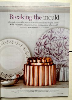 """ellie tennant homes and antiques jelly moulds""""...helpful jelly experts in the process such as food historian Ivan Day and food stylist Silvana de Soissons. The accompanying shots by Lisa Brown and Joanna Henderson are beautiful – Georgian-inspired, but with contemporary details from Thornback and Peel and top jelly-mongers Bompas and Parr."""""""