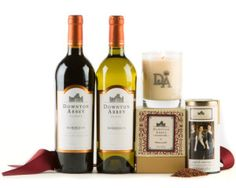 Downton Abbey Wine, tea and candle gift set