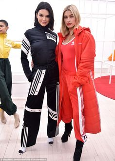 Earlier in the day: She was seen with girlfriend Hailey Baldwin at the Adidas Originals By Danielle Cathari presentation, Fall Winter 2018