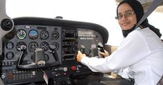Muslim Pilot Gives Wings to Girls' Dreams