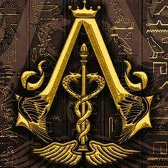 Assassins Creed Logo, Assassins Creed Origins, Dojo, Assassin's Creed Brotherhood, Glyphs, How To Introduce Yourself, Symbols, Games, Golden Age