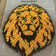 Lion hama perler art by noeelkarate