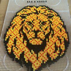 Lion hama perler art by noeelkarate