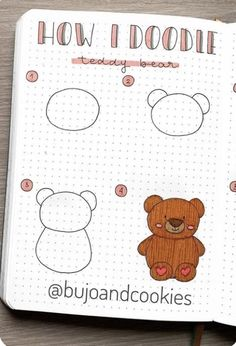 best animal bullet journal DOODLES with step by step tutorials Easy Doodles Drawings, Easy Doodle Art, Cute Easy Drawings, Simple Doodles, Cute Doodles, Bullet Journal Lettering Ideas, Bullet Journal Ideas Pages, Bullet Journal Inspiration, Doodle Art For Beginners