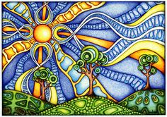 the most wide range of psychedelic posters out there.psychedelic art in its best form.top quality and the most unique and interesting colors in the psychedelic world. Watercolor Art, Psychedelic Art, Doodle Art, Painting, Sun Art, Art, Zentangle Art, Art Journal, Tangle Art