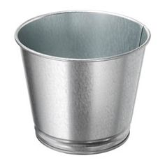 IKEA - BINTJE, Plant pot, Decorate your home with plants combined with a plant pot to suit your style.Galvanized for rust resistance.