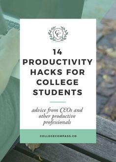 14 College Productivity Hacks | College Compass