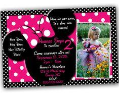 VENTA Minnie Mouse invitaciones con libre gracias por SkyeCreation
