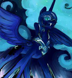 Nightmare Moon, Some Image, Artist Names, Pony, It Cast, Female, Anime, Pony Horse, Ponies