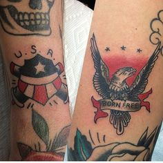 Hope you guys had a great 4th of July!  Check out these two all-American tattoos that @scott_updike did yesterday!