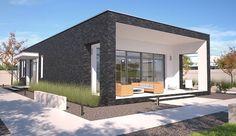 Projekt domu parterowego Lancaster II DCB104a o pow. 84,33 m2 z garażem 1-st., z dachem płaskim, z tarasem, sprawdź! Lancaster, Bungalow, Home Fashion, Cabana, Mansions, House Styles, Homes, Home Decor, Dreams