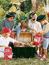 Pirate party:  set up a photo shoot in the boys' room with a hidden treasure they have to hunt for.  . . .?