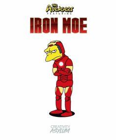 Avengers: Iron Moe, The Simpsons Simpsons Drawings, Simpsons Art, Simpson Wallpaper Iphone, Cartoon Wallpaper, Cute Deadpool, Far Side Comics, Simpsons Characters, Cartoon Crossovers, Funny Memes