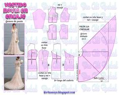 New Doll Clothes Dresses Sewing Patterns 17 Ideas Sewing Dress, Dress Sewing Patterns, Doll Clothes Patterns, Sewing Clothes, Clothing Patterns, Diy Wedding Dress, Wedding Dress Patterns, Costura Fashion, Make Your Own Clothes