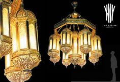 Swarovski, Metal Chandelier, Led, Metal Casting, Frosted Glass, Luster, Islamic, Ornament, It Cast