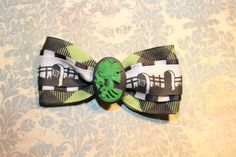 Lady Death Skull  Green by RiotGearHairBows on Etsy, $8.00