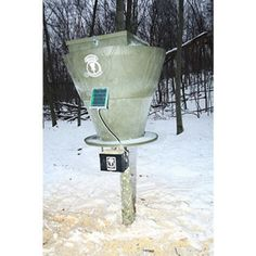 Banks Outdoors Feed Bank 600 Large-Capacity Deer Feeder is perfect for keeping deer big and frequently on your property both in and out of season.