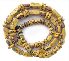 Antique Venetian beads used in the African trade | circa late 1800's, early 1900's.