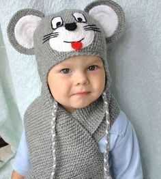 Exceptional Stitches Make a Crochet Hat Ideas. Extraordinary Stitches Make a Crochet Hat Ideas. Crochet Animal Hats, Crochet Kids Hats, Crochet Baby Clothes, Crochet Beanie, Free Crochet, Knitted Hats, Knit Crochet, Baby Knitting Patterns, Baby Patterns
