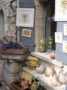 Shop in Les Baux-de-Provence, France