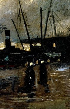 Quayside with Ships in Antwerp by Vincent van Gogh. Oil on canvas, 1885 Van Gogh Museum, Amsterdam, Netherlands Source: www.wikiart.com