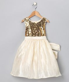 Cream Sequin Dress - perfect dress for the flower girl