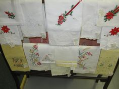 Pineapple House Antiques ~ Vintage Guest Towels & Hankies from My Shop!