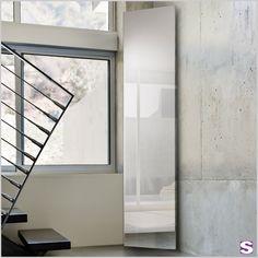 """Garderobenheizkörper elektrisch E-Vogan - SEBASTIAN e.K. – Stilvoll. –  """"Ab in die Ecke!"""" dachten Sich die kreativen Designer. Und damit haben Sie eine perfekte Möglichkeit geschaffen, um Ecken ideal zu nutzen.   #wohnen #heizkörper #elektrisch #spiegel"""