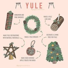 Yule is fast approaching. A few ideas for what you can do to celebrate yule. Credit to owner x Wiccan Spell Book, Wiccan Witch, Wiccan Spells, Magick, Yule Wicca, Spell Books, Witch Spell, Magic Spells, The Witch