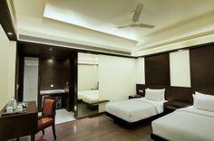 Twin Bedded Room in Hotel Godwin deluxe #hotelindelhi  http://www.godwindeluxe.com