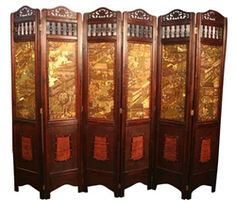 Decorative Vintage 6 Panel Asian Screen standing 6ft tall.  JUST $299 FREE NATIONWIDE SHIPPING
