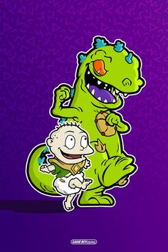 If you're a fan of Power Rangers and Rugrats then you'll love this poster. It screams Nickelodeon style. Rugrats Cartoon, Nickelodeon Cartoons, Power Rangers Quotes, Cartoon Drawings, Cartoon Art, Reptar Rugrats, Tommy Pickles, Cartoon Network Shows, Marijuana Art