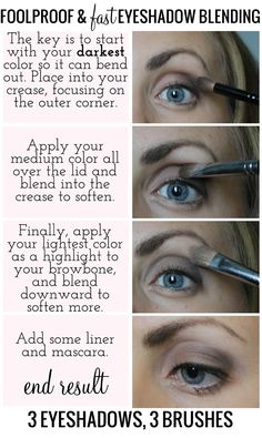 The fancy face tips for beginners eyeshadow placement and foolproof and fast eyeshadow blending ccuart Gallery
