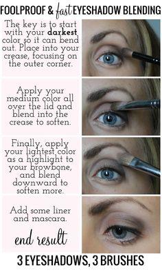 Foolproof and Fast Eyeshadow Blending