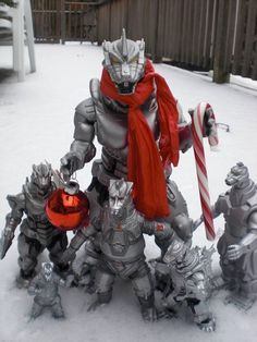 Christmas Mecha Godzillas...LOL