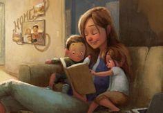 madre-con-sus-hijos-feliz-por-aceptar-los-cambios
