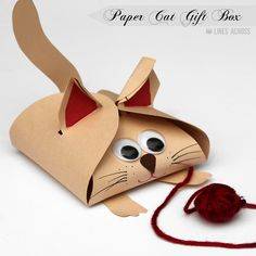 """""""Lines Across"""": Dog and Cat Paper Gift Boxes"""