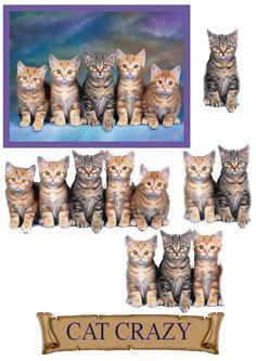 free decoupage sheets to print Christmas Sheets, 3d Templates, Image 3d, Decoupage Printables, Art Carte, 3d Sheets, Kitten Love, 3d Cards, 3d Prints