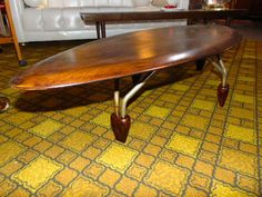 Rare John Keal Surfboard Coffee Table