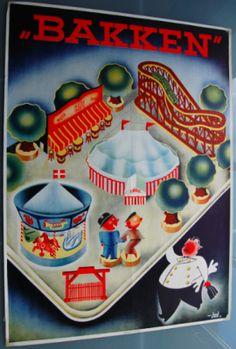 Bakken Vintage Ads, Beatles, Copenhagen, Denmark, Danish, Coca Cola, Lego, Stamps, Advertising