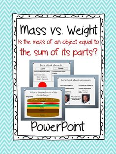 """PowerPoint Presentation.  Answers the question, """"Is the mass of an object equal to the Sum of Its Parts?""""  Aligned with 5th Grade Science standards in Georgia.  100% Editable! Paid"""