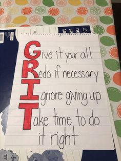 Grit anchor chart