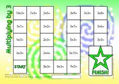 Multiplying by 3 Board Game (SB11446) - SparkleBox