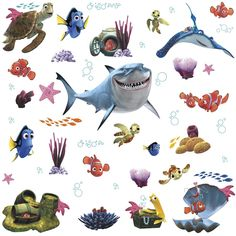 Amazon.com: Roommates Rmk2059Scs Finding Nemo Peel And Stick Wall Decals: Home Improvement