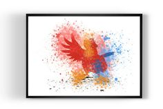 Parrot from Aladdin Art Print  Watercolor Print by MulticolourArt