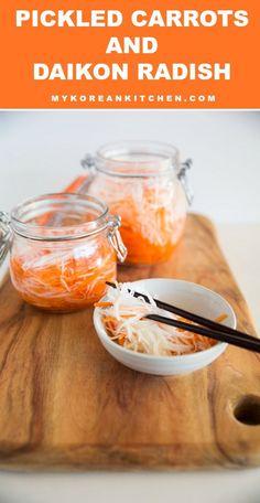 Pickled Carrots and Daikon Radish | MyKoreanKitchen.com