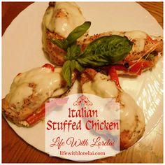 Italian Stuffed Chicken Recipe - Life With Lorelai - A tasty chicken recipe sponsored by Foster Farms. #FosterFarmsFresh #Recipe #Chicken #ad
