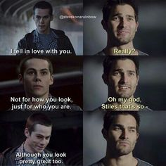 Although you look pretty great too... :D #sterek #love #funny #edit